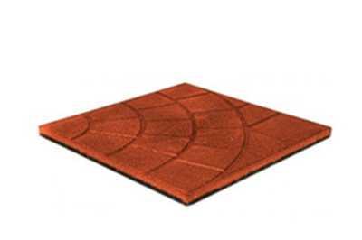 Плитка из резиновой крошки размерами 350х350х30мм