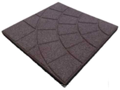 Плитка из резиновой крошки размерами 350x350x10мм