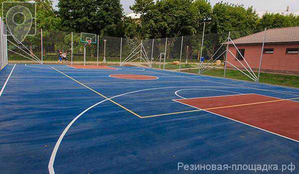 Бесшовное резиновое покрытие для спортивных площадок