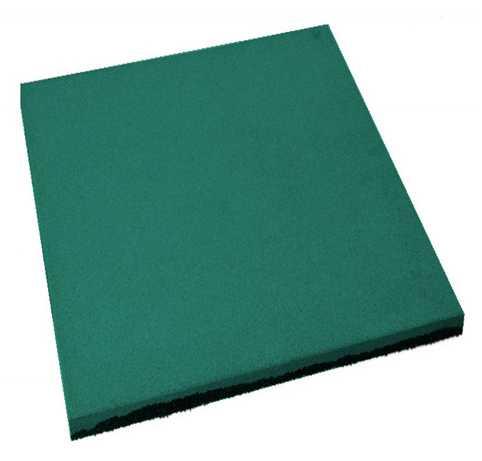 Резиновая плитка из резиновой крошки размерами 500*500*45мм
