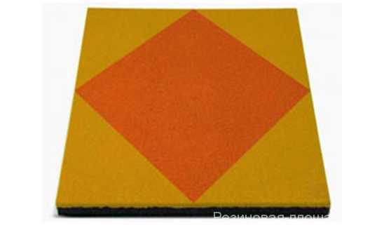 Травмобезопасная резиновая плитка-мозаика 500*500*40 мм