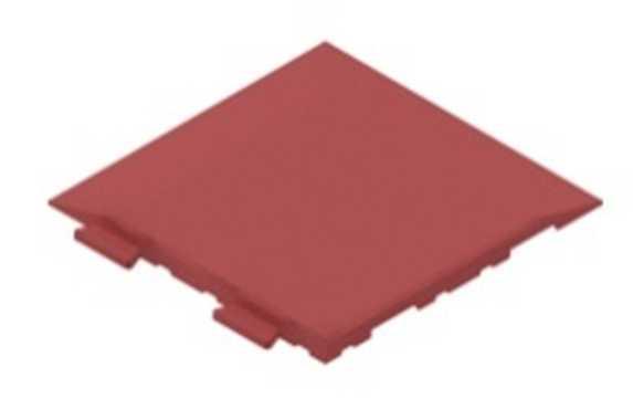 Травмобезопасная резиновая плитка-пазл 1000-1000-30 мм