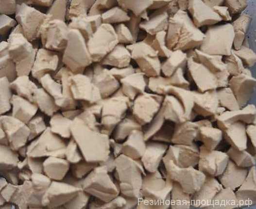 ЭPDM крошка цвет песочный купить