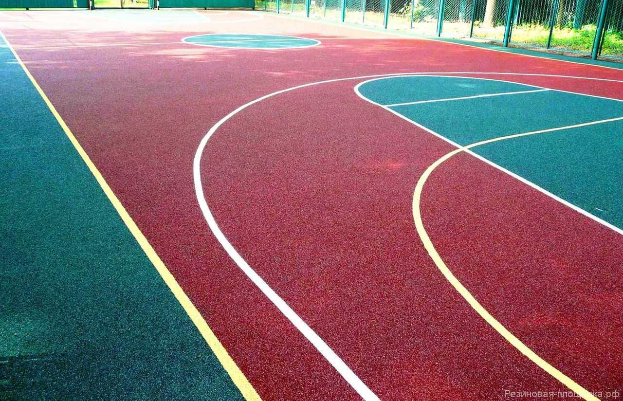 Покрытие из резиновой крошки для спорт площадки